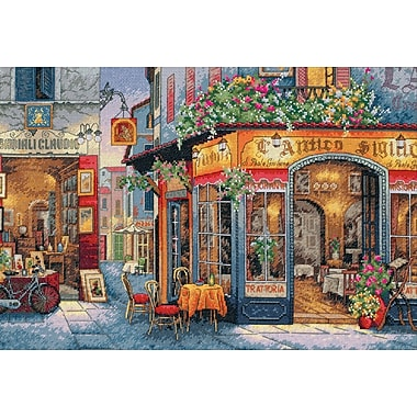 Gold Collection European Bistro Counted Cross Stitch Kit, 16