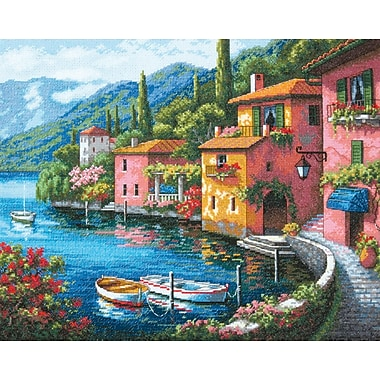 Gold Collection Lakeside Village Counted Cross Stitch Kit, 15