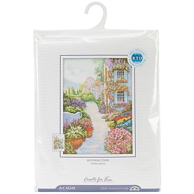 Blooming Town Counted Cross Stitch Kit, 9-3/4