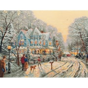 """Anchor Maia® Thomas Kinkade A Holiday Gathering Counted Cross Stitch Kit, 14"""" x 18"""", 16 Count"""