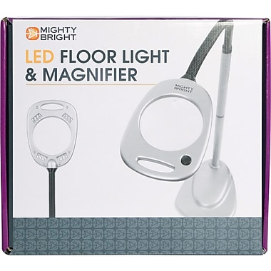 Mighty Bright Led Floor Light Amp Magnifier Grey Amp Black
