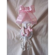 Silly Bear Piggy Princess Wall Sconce; Satin Ribbons