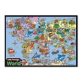 Universal Map World Framed Wooden Puzzle