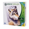 Mega Brands 300 Piece 3D Breakthrough Wolf Puzzle