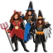 Dress Up America 3-in-1 Devil, Wizard, Witch Children's Costume Set; Small