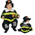 Dress Up America Baby Fire Fighter Costume Set; 9-12 Months