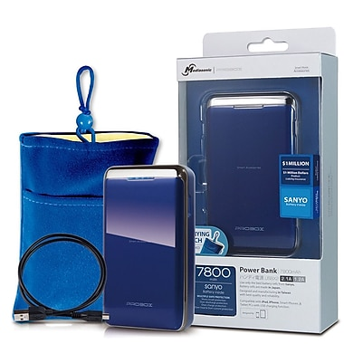 Mediasonic ProBox Universal Power Bank Dual USB Charge, Navy Blue, HE1-78U2-NB