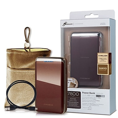 Mediasonic ProBox Universal Power Bank Dual USB Charge, Brown, HE1-78U2-BR