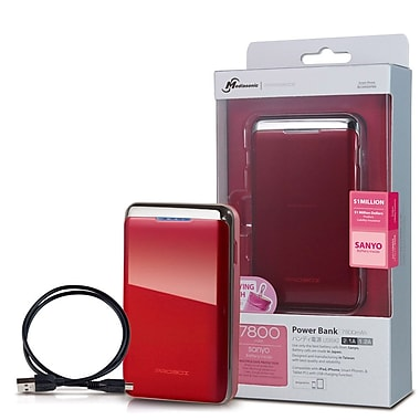 Mediasonic ProBox Universal Power Bank Dual USB Charge, Red, HE1-78U2-RD