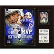 C & I Collectibles NFL Player Plaque; Indianapolis Colts - Peyton Manning's four MVPs