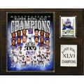 C & I Collectibles NFL New York Giants Super Bowl XLVI Champions Plaque