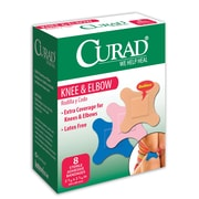 Medline® Curad® Plastic Knee and Elbow Bandage, 2 3/4 x 2 3/4, 24/Pack