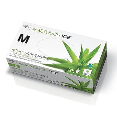 Medline® Aloetouch Ice® Powder-Free Thin Nitrile Exam Gloves, Green, Medium, 2000/Pack