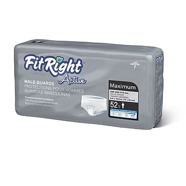 FitRight™ Active Male Guards, Blue Acquisition Layer, 6