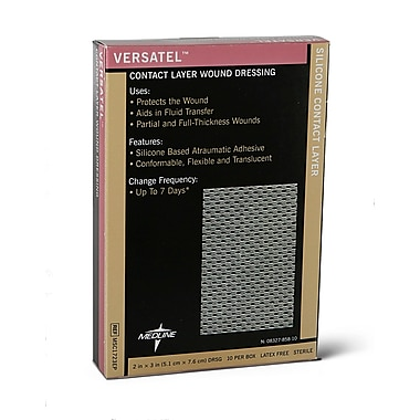 "Medline Versatel Contact Layer Dressings, 3"" X 4"" (Case of 50)"