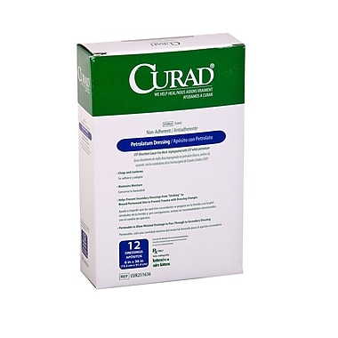 Medline® Curad® Sterile Petrolatum Gauze Dressings, 6in. x 36in.,12/Box