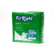 "Medline® FitRight® Extra Clothlike Briefs, Regular (40"" - 50""), 20/Pack"