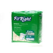 Medline® FitRight® Extra Clothlike Briefs, XL (59 - 66), 80/Pack