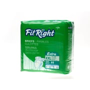 "Medline® FitRight® Extra Clothlike Briefs, 2XL (60"" - 69""), 80/Pack"