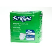 Medline® FitRight® Plus Clothlike Briefs, Medium (32 - 42), 80/Pack