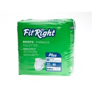 "Medline® FitRight® Plus Clothlike Briefs, Medium (32"" - 42""), 20/Pack"