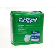 "Medline® FitRight® Plus Clothlike Briefs, XL (59"" - 66""), 80/Pack"