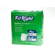 "Medline® FitRight® Plus Clothlike Briefs, XL (59"" - 66""), 20/Pack"