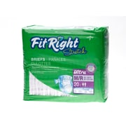 "Medline® FitRight® Ultra Stretch Clothlike Briefs, Medium/Regular (32"" - 50""), 80/Pack"