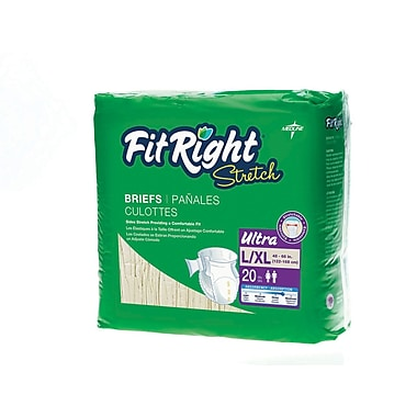 Medline® FitRight® 80/Pack Ultra Stretch Clothlike Briefs
