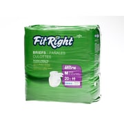 Medline® FitRight® Ultra Clothlike Briefs, Medium (32 - 42), 20/Pack