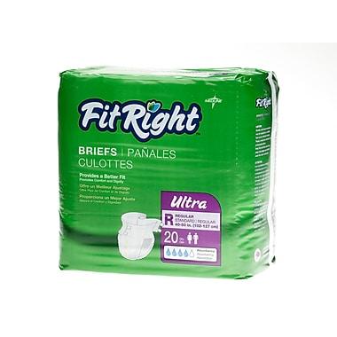 Medline® FitRight® Ultra Clothlike Briefs, Regular (40