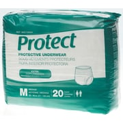 "Medline® Protect Extra Protective Underwear, Medium (28"" - 40""), 20/Bag"