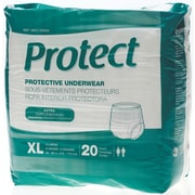 "Medline® Protect Extra Protective Underwear, XL (56"" - 68""), 20/Bag"