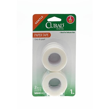 Medline® Curad® First Aid Paper Adhesive Tape, 1in. x 10 yds., 24/Pack