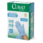 Medline® Curad® Latex-Free Powder-Free Nitrile Gloves, One Size, 1000/Pack