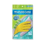 Medline® Handy Helper™ Washable Latex Household Gloves, Yellow, Medium