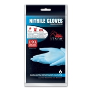 Medline® Venom™ Powder-Free Nitrile Gloves, Blue, Large/XL, 6/CT