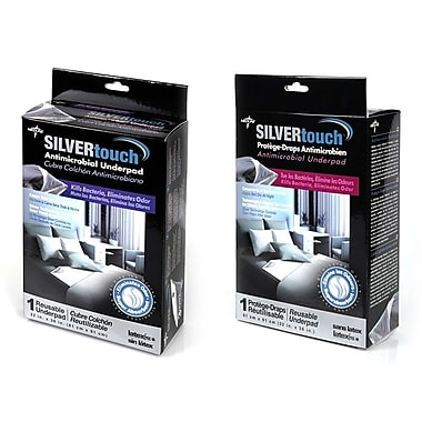 Medline® SilverTouch™ Twill Face Retail Packaged Underpads, 32
