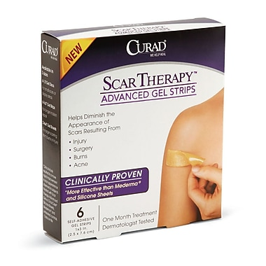Medline® Curad® Scar Therapy™ Advanced Gel Strips, 1in. x 3in., 24/Pack