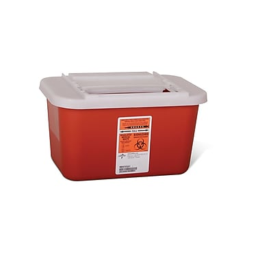 Medline® Biohazard Multipurpose 1 gal Sharps Container, Red