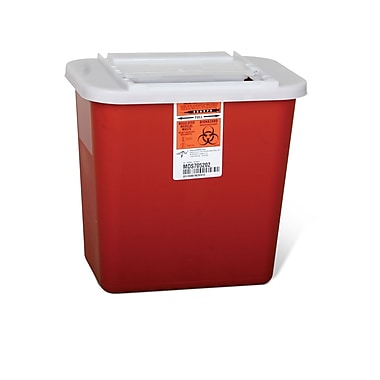 Medline® Biohazard Multipurpose 2 gal Sharps Container, Red