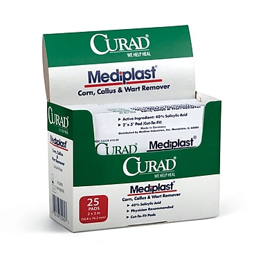 Medline® Curad® MediPlast® Wart Pads, 2in. x 3in., 150/Pack