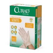 Medline® Curad® Latex-Free Exam Vinyl Gloves, One Size, 100/Pack