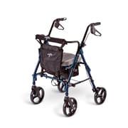 Medline® 300 lbs. Capacity Deluxe Comfort Rollators, Blue/Black