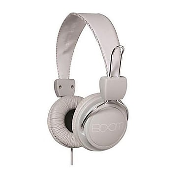 BOOM Renegade Over-Ear Headphones, Grey/White