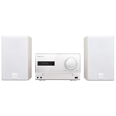 Pioneer CD Receiver System with iPod/iPhone Dock, FM/AM Tuner And USB, White