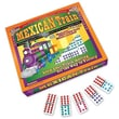 Puremco Mexican Train Double 12 Color-Coded Dominoes Game