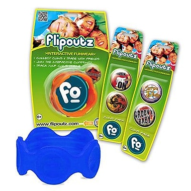 Wild Creations Flipoutz Bracelet with One Coin and Two Additional Coin Pack in Blue