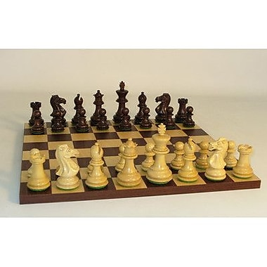 WorldWise Chess Walnut Stained Exclusive on Dark Rosewood Chess Board