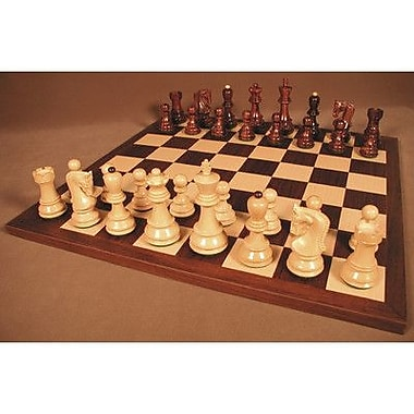 WorldWise Chess Rosewood Old Russian on Dark Rosewood Chess Board